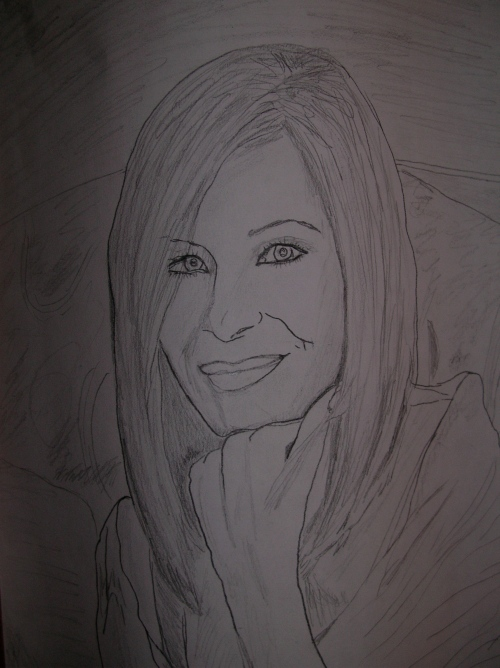 Barbara Streisand Theresa's sketch.