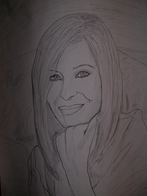 Barbara Streisand Theresa's sketch.