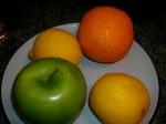 fresh fruit washed