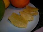 lemon peeled, pith removed and slices sectioned