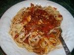 Fetuccini Red Pepper Sauce