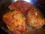 Buttermilk chicken fried in peanut oil