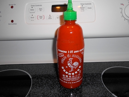 """Sriracha sauce makes my nose and throat burn if I get too close, but  Joe  uses it one his veggie burgers, eggs and pasta"""