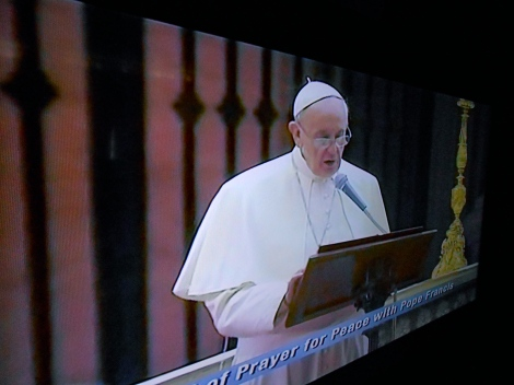 Pope Francis calls the world to peace ... we are to be the instruments to end war""