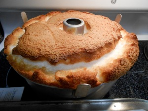 """Angel Food Cake in the pan"""