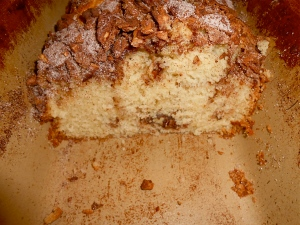 """Pecan Cinnamon Streusel Cake ~ The crunch was remarkable!"""