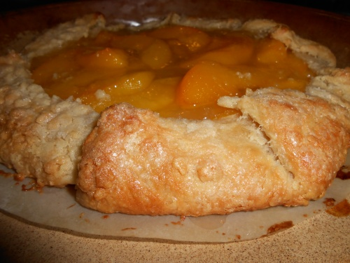 'The crust is flaky and complements the softness of he peaches""