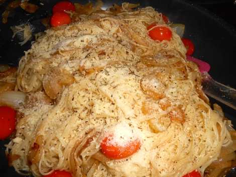 """""""sweet Onion Pasta tasted incredible and only took total time of ten minutes to prep and cook. A fast easy meal when time is key."""""""